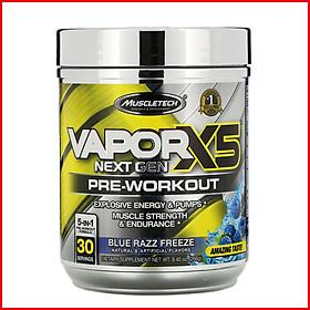 Thực phẩm bổ sung Pre-Workout Vapor X5 của MuscleTech -  Hỗ trợ tăng sức mạnh, sức bền, tăng sự tập trung tỉnh táo cho người tập luyện thể hình và thể thao – có 2 mùi để chọn lựa -Thương hiệu MuslceTech USA - 30 lần dùng