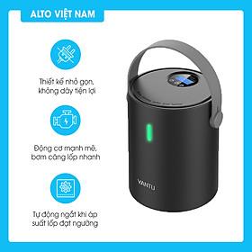 Ống bơm hơi điện tử mini YANTU A05 không dây dành cho ô tô, xe máy, xe đạp - Hàng chính hãng
