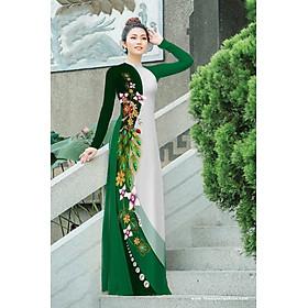 Vải áo dài in hoa XHV-207