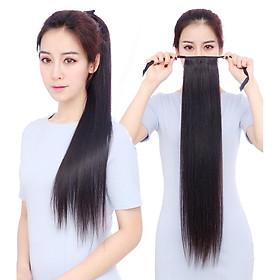 Tóc giả buộc thẳng 60cm, tóc cột giả, buộc tóc giả D13L