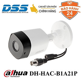 Camera HDCVI thân 2MP FullHD 1080P Dahua DH-HAC-B1A21P DSS Việt Nam Hàng Chính Hãng