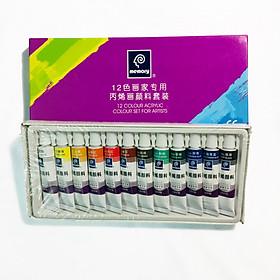 Màu Acrylic Memory Bộ 12 Màu (Dạng Tuýp)