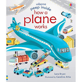 Sách Usborne Peep Inside How a Plane Works