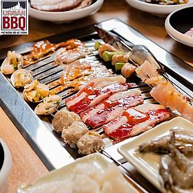 Urban BBQ - Buffet Nướng Lẩu The Real All In One 5 Vị Lẩu-Hơn 130 Món Hải Sản, Bò Mỹ Nước Uống Không Giới Hạn Từ Thứ 2 Đến Thứ 6 All Day