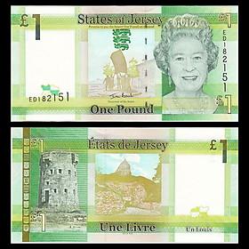 Tiền Jersey 1 bảng Nữ hoàng Elizabeth II