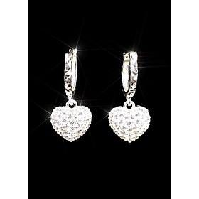 Bông tai bạc nữ PANMILA : Bông tai bạc trái tim - 2 Mặt sử dụng