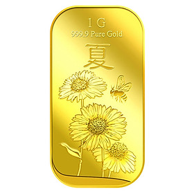 Miếng Vàng Hoa Hướng Dương Tượng Trưng Cho Mùa Hạ 1G - Vàng 999.9