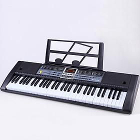 Đàn Piano Điện Tử 61 Phím, Phím đàn 2cm Cho bé, người mới tập đàn Có  Mic Và Giá Đỡ Nhạc Lý