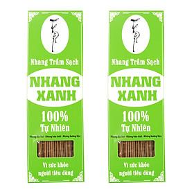 ComBo 2 hộp Nhang Xanh 30cm-500g (Chân Tăm Đỏ) Nhang Trầm Sạch 100% Vì Sức Khỏe Nhang Thiền