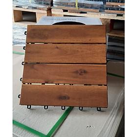 Combo 9 tấm ván sàn gỗ vỉ nhựa lót ban công sân vườn - Loại 4 nan
