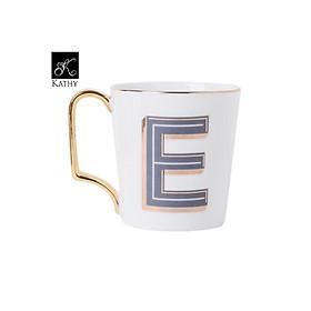 Cốc cao chữ E gốm sứ cao cấp phong cách hiện đại LETTER CUP 5193E