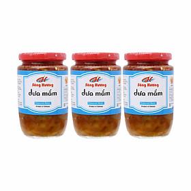 3 Hũ Dưa Mắm Sông Hương Foods Hũ 430g