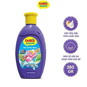 Sữa Tắm Gội cho bé Carrie Junior tinh chất Sữa 280g