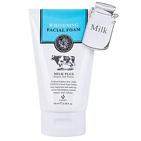 Sữa Rửa Mặt Tạo Bọt Dưỡng Trắng Và Trẻ Hoa Da Beauty Buffet Scentio Milk Plus 100ml