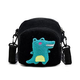3Colors girls crossbody bags patchwork dinosaur pattern handbags women shoulder bag zip messenger bag