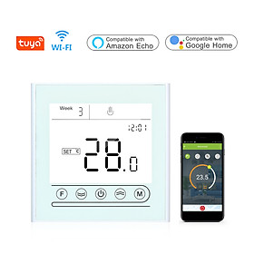 Tuya WiFi Smart Thermostat Programmable Temperature Controller for Water/Gas Boiler Heating Compatible with Alexa Google