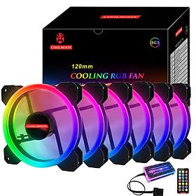 Bộ 6 Quạt + Khiển Coolmoon RGB V2 - Hàng nhập khẩu