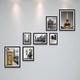Bộ Khung Hình Phong Cách Scandinavia Bắc Âu Treo Cầu Thang Đẹp Tặng Kèm bộ ảnh như hình mẫu, đinh treo tranh và sơ đồ treo - PGC239