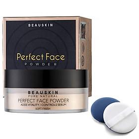 Phấn phủ bột kiềm dầu Beauskin Perfect Face Power Hàn Quốc 20g- 21 Natural beige tặng bông phấn - Mẫu mới