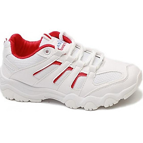 Giày Sneaker Nữ Hot Trend Bazas BZ199 Trắng Phối Đỏ