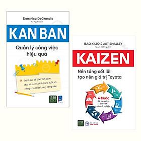 Combo (2 Cuốn): Kanban - Quản Lý Công Việc Hiệu Quả + Kaizen – Nền Tảng Cốt Lõi Tạo Nên Giá Trị Toyota