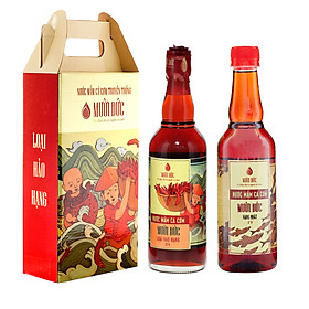 Hình đại diện sản phẩm Combo 2 chai nước mắm hảo hạng Mười Đức 500ml và hạng nhất Mười Đức 500ml