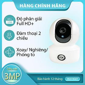 Camera an ninh WiFi 360 độ EGE-T301 Camera ip 3MP - Hàng Chính Hãng