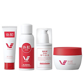 XIEHE Vitamin e Moisturizing 4 Piece Set Spray+Lotion+Facial Cleanser+Cream