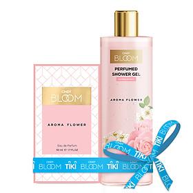 Bộ Nước Hoa Cindy Bloom 50ml & Sữa Tắm Nước Hoa 270g Aroma Flower - Ngọt Ngào