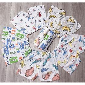 combo 10 Quần chục đùi cotton giấy cho bé trai và bé gái