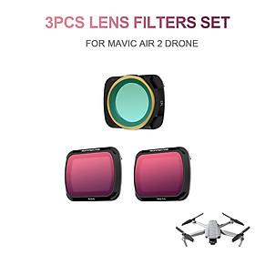 for DJI Mavic Air 2 Drone 3pcs Lens Filter Set CPL ND8 ND16 Filter Combo Multi-coated Filters Camera Lens