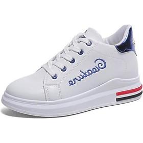 Giày Sneaker Nữ Mẫu Mới Siêu Hot Yamet YR358WB Trắng Phối Xanh