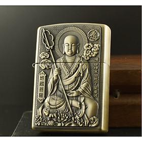 Bật lửa hột quẹt Đá Xăng Hình Phật M16- Loại tốt