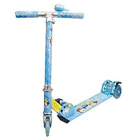 Xe trượt scooter xanh dương gấu cho bé