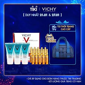 Bộ sản phẩm phục hồi và chống lão hóa Vichy Liftactiv Specialist Peptide-C Anti Aging Ampoule