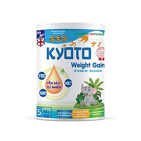 Sữa bột dinh dưỡng Kyoto WEIGHT GAIN dinh dưỡng dầy đủ giúp người gầy tăng cân hiệu quả vượt trội NUTRI PLUS trên 3 tuổi- 900G