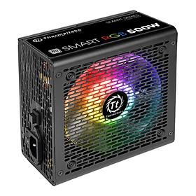 Nguồn Máy Tính PSU Power Thermaltake Smart RGB 500W 80 Plus White PS-SPR-0500NHSAWE-1 120mm - Hàng Chính Hãng