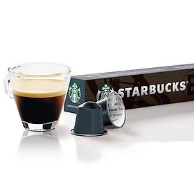Viên cà phê rang espresso của Starbucks (10 viên/ hộp; thích hợp cho máy pha cà phê viên nén Nespresso)