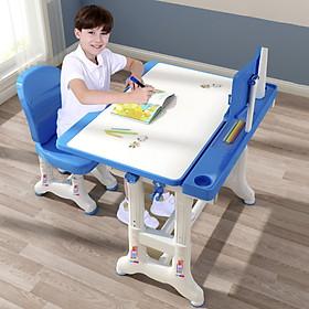 Bộ bàn ghế học sinh thông minh tùy chỉnh độ cao chống gù cho bé - Hàng chính hãng