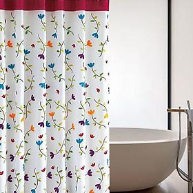 Rèm phòng tắm chống nước 1.8m*1.8m có sẵn móc