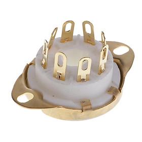 8pin PCB Mounting Vacuum Tube Socket GZC8-Y-3-G For KT88/6550/EL346P6P 6V6