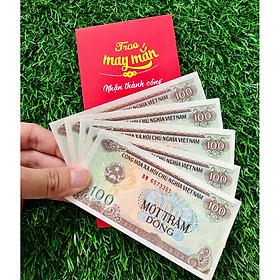 COMBO 5 Tờ 100 đồng 1991 Việt Nam BOT Cai Lậy [Tiền Thật 100% Tiền Cổ, Tiền Xưa] - tặng kèm bào lì xì