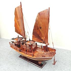 Mô hình tàu Hạ Long gỗ cẩm 40cm