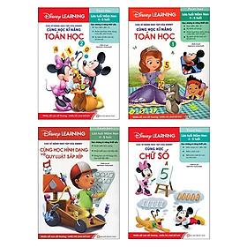 Bộ Sách Disney Learning - Kỹ Năng Toán Học 1 (4-5 Tuổi) (Bộ 4 Cuốn)