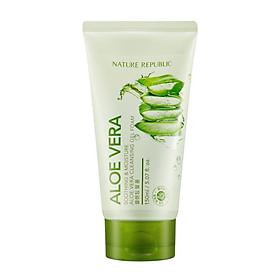 Sữa rửa mặt dạng gel NATURE REPUBLIC Soothing & Moisture Aloe Vera Cleansing Gel Foam 150ml