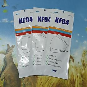 combo 3 khẩu trang kháng khuẩn hàn quốc KF94 , size M trắng