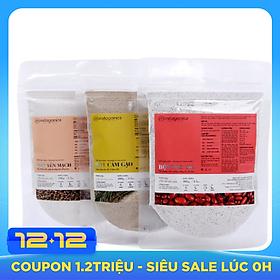 Combo 3 Gói Bột Đậu Đỏ, Cám Gạo Và Yến Mạch Thiên Nhiên Milaganics (100g/gói)