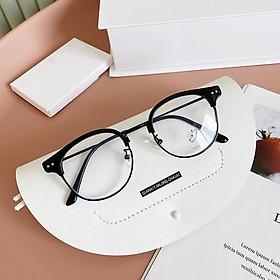 Kính gọng cận thời trang mắt tròn bảo vệ mắt chống tia UV - Kính không độ Unisex 4 Young Store 048