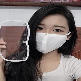 khẩu trang vải kính che mặt và chống dịch-chống giọt bắn tiện lợi hiện đại khẩu trang nữ