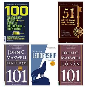 Combo bộ 5 cuốn sách:BỘ 5 CUỐN SÁCHJohnc.Maxwell Lãnh đạo 101 + The book of Leadership Dẫn dắt bản thân, đội nhóm và tổ chức vươn xa + 100 phương pháp truyền động lực cho đội nhóm chiến thắng + 51 chìa khóa vàng để trở thành nhà lãnh đạo truyền cảm hứng + Cố vấn 101TV
